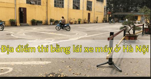 Địa điểm thi bằng lái xe máy